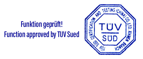 TUeV Stempel Funktion geprueft function approved